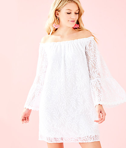 Nevie Dress, Resort White Swirling Leaf Lilly Lace, large 0