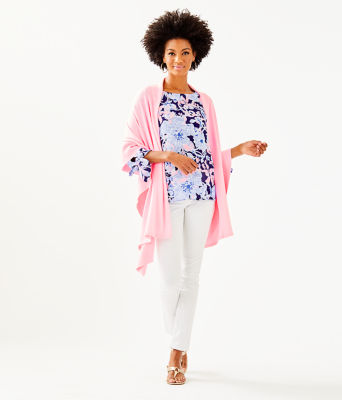Marcelle Wrap, Pink Tropics Tint, large
