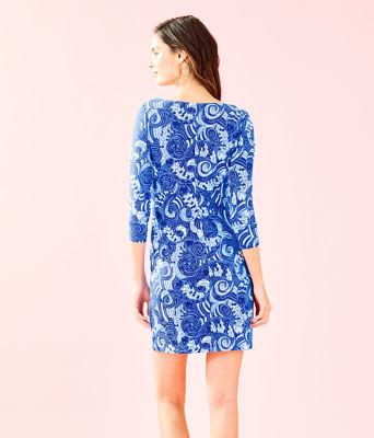 UPF 50+ 3/4 Sleeve Sophiletta Dress, Blue Grotto So Offishal, large 1