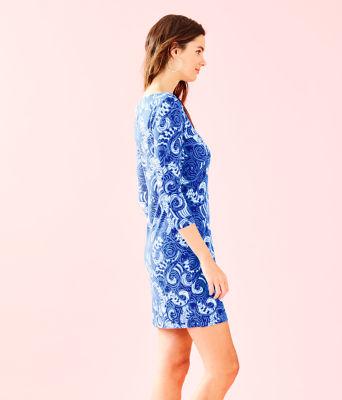 UPF 50+ 3/4 Sleeve Sophiletta Dress, Blue Grotto So Offishal, large 2