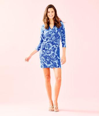UPF 50+ 3/4 Sleeve Sophiletta Dress, Blue Grotto So Offishal, large