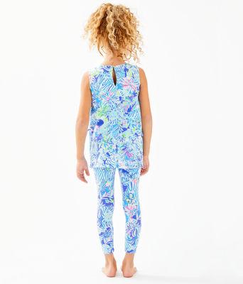 Girls Mini Donna Legging Set, Coastal Blue Lion Around, large 1