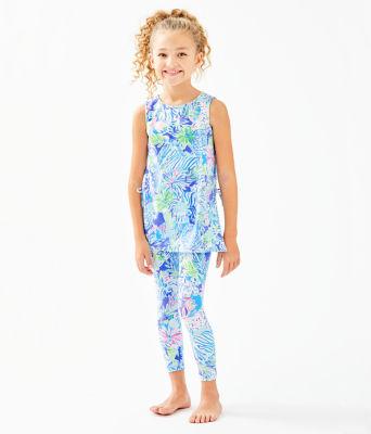 Girls Mini Donna Legging Set, Coastal Blue Lion Around, large 2