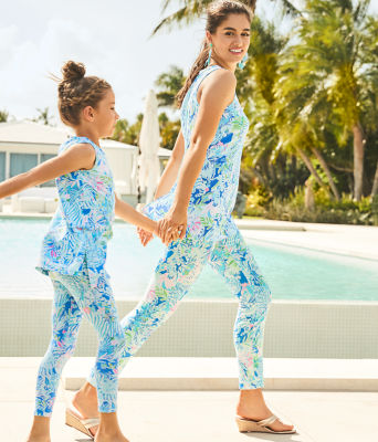 Girls Mini Donna Legging Set, Coastal Blue Lion Around, large 3