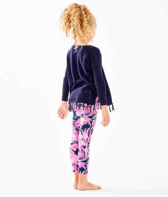 Girls Maia Legging, Inky Navy Flamingle, large 1