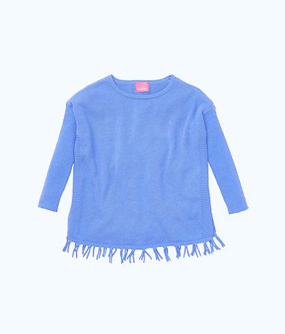 Girls Mini Ramona Sweater, Coastal Blue, large 0