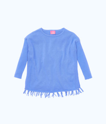Girls Mini Ramona Sweater, Coastal Blue, large