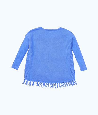 Girls Mini Ramona Sweater, Coastal Blue, large 1