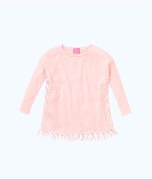 Girls Mini Ramona Sweater, Paradise Pink, large