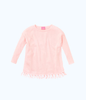 Girls Mini Ramona Sweater, Paradise Pink, large 0