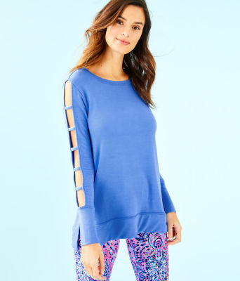 Luxletic Fresh Squeeze Pullover, Coastal Blue, large 0