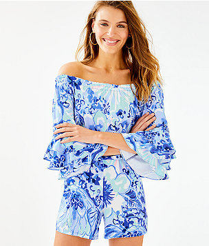 c0c0b22988b Calla Off-The-Shoulder Romper