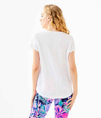 Colie Top, Resort White Be The Sunshine Graphic, large 1