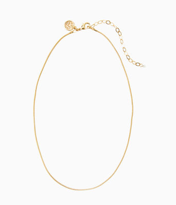 Charm Necklace Chain, Gold Metallic, large 0