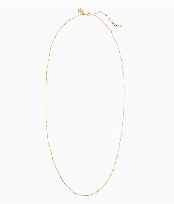 Charm Bar Long Chain, Gold Metallic, large