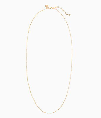 Charm Bar Long Chain, Gold Metallic, large 0