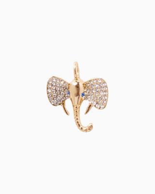 Large Custom Charm, Gold Metallic Large Elephant Charm, large