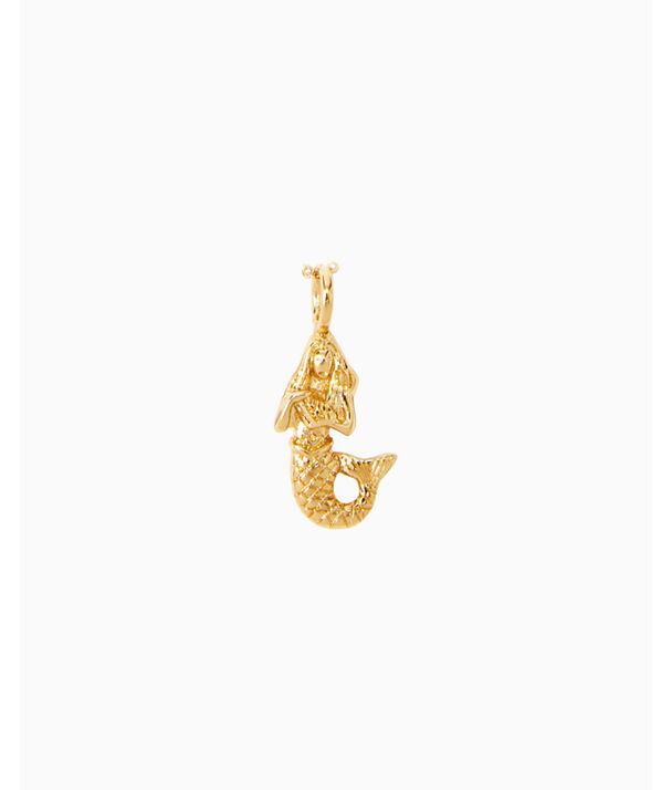 Large Custom Charm, Gold Metallic Large Mermaid Charm, large