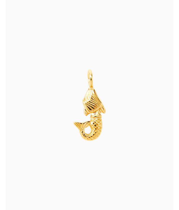 Large Custom Charm, Gold Metallic Large Mermaid Charm, large