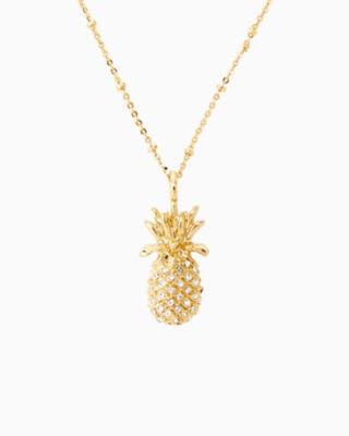 Large Custom Charm, Gold Metallic Large Pineapple Charm, large 1