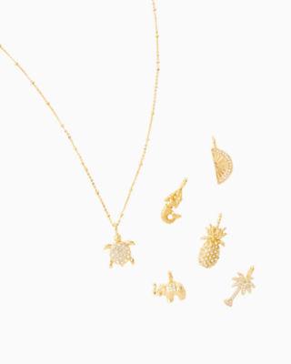 Large Custom Charm, Gold Metallic Large Pineapple Charm, large 2