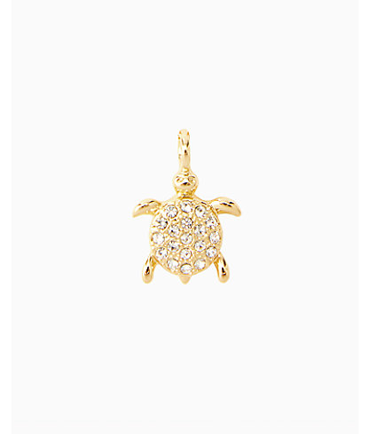 Large Custom Charm, Gold Metallic Large Turtle Charm, large