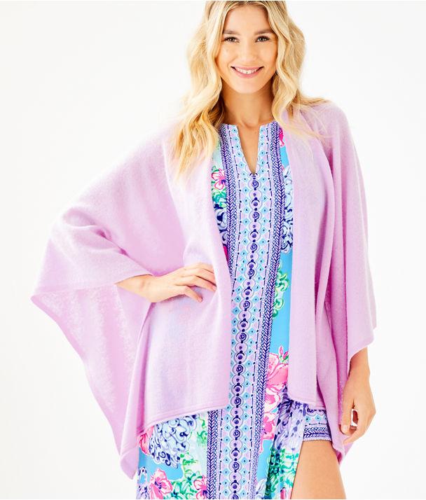 Terri Cashmere Wrap, Lilac Freesia, large