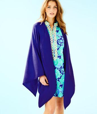 Terri Cashmere Wrap, Royal Purple, large