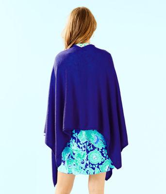 Terri Cashmere Wrap, Royal Purple, large 1