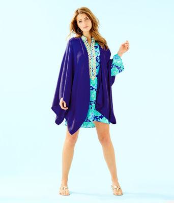 Terri Cashmere Wrap, Royal Purple, large 2