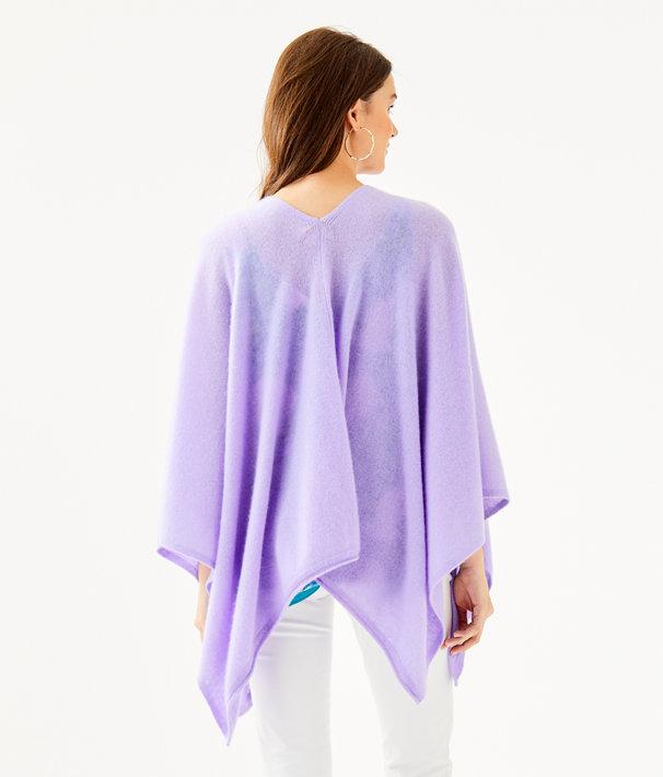 Terri Cashmere Wrap, Sea Urchin Purple, large