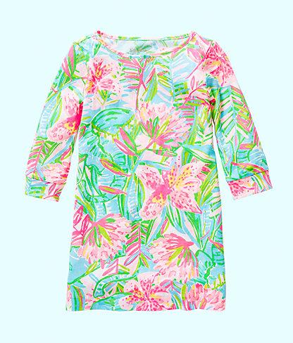 Girls Mini Marlowe Dress, Multi Pop Up Lilly Of The Jungle, large 0