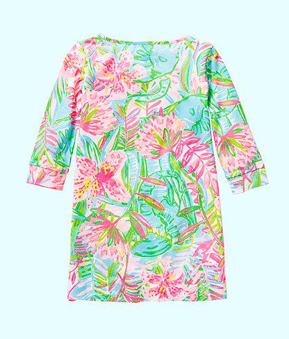 Girls Mini Marlowe Dress, Multi Pop Up Lilly Of The Jungle, large 1
