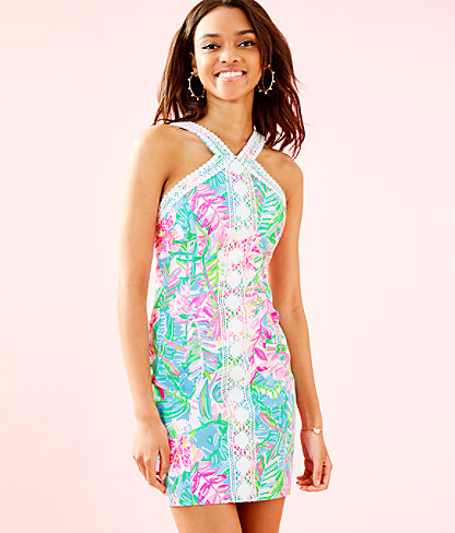 Vena Stretch Shift Dress, Multi Pop Up Lilly Of The Jungle, large 0
