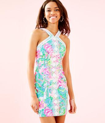 Vena Stretch Shift Dress, Multi Pop Up Lilly Of The Jungle, large