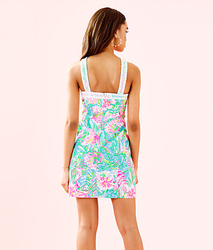 Vena Stretch Shift Dress, Multi Pop Up Lilly Of The Jungle, large 1