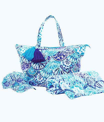 Beach Gift Box Set, Turquoise Oasis Half Shell, large