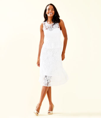 Nolea Dress, Resort White Paradise Found Lace, large 0