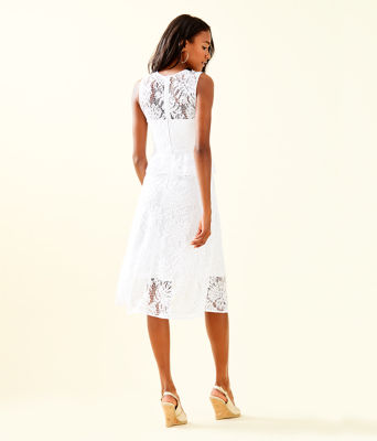 Nolea Dress, Resort White Paradise Found Lace, large 1