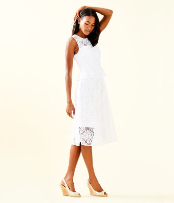 Nolea Dress, Resort White Paradise Found Lace, large 2