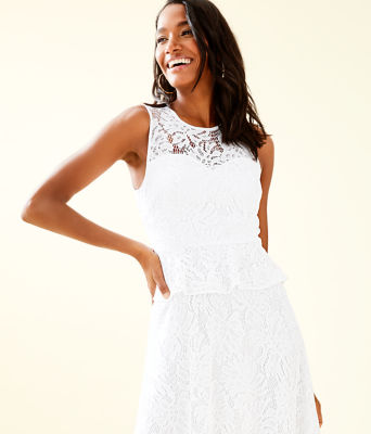 Nolea Dress, Resort White Paradise Found Lace, large