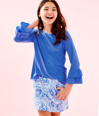 Girls Mini Madison Skort, Blue Peri Turtley Awesome, large 0