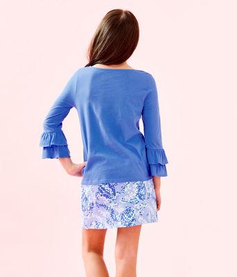 Girls Mini Madison Skort, Blue Peri Turtley Awesome, large 1