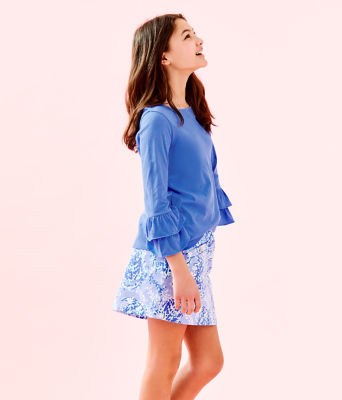 Girls Mini Madison Skort, Blue Peri Turtley Awesome, large