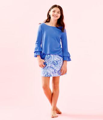 Girls Mini Madison Skort, Blue Peri Turtley Awesome, large 3
