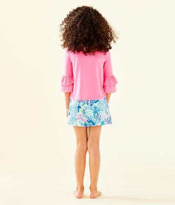 Girls Mini Madison Skort, Coastal Blue Lion Around, large 1