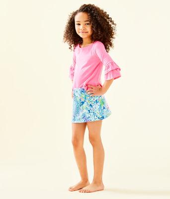 Girls Mini Madison Skort, Coastal Blue Lion Around, large 3