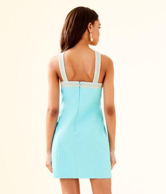 Vena Stretch Shift Dress, Bali Blue, large 1