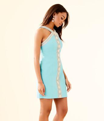 Vena Stretch Shift Dress, Bali Blue, large 2