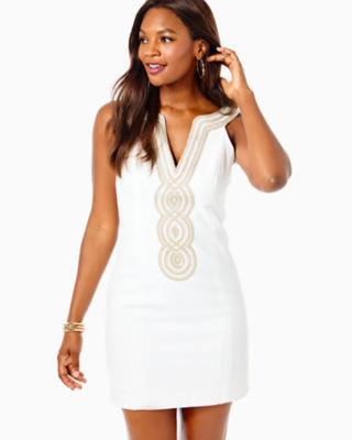 Valli Shift Dress, Resort White, large 0
